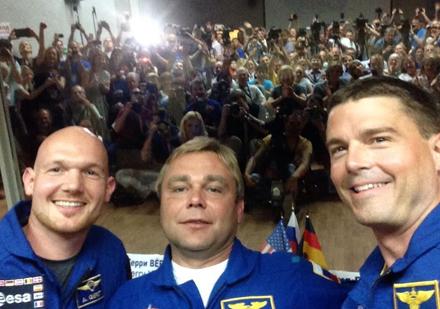 ISS astronaut selfie